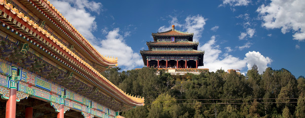 Jingshan Park--Wanchun Pavilion, china, beijing