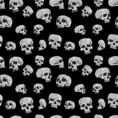 Seamless Skulls Black