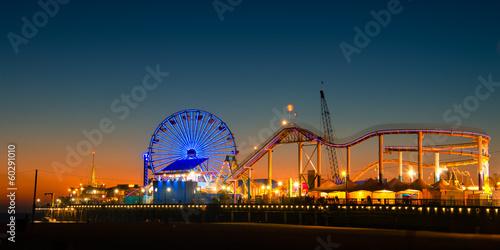 Plexiglas Stad aan het water Santa Monica Pier