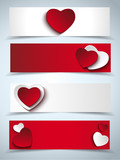 Valentines Day Set of Four Web Banners