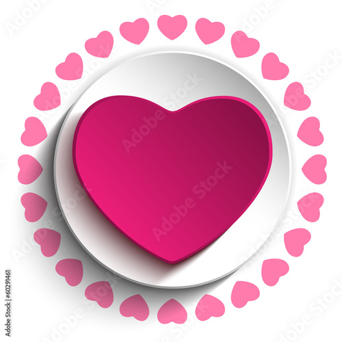 Valentine Day Love Heart Pink Background