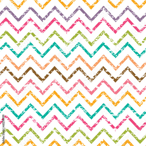 Vector colorful grunge chevron seamless pattern background