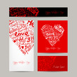 Set of valentine cards for your design