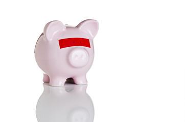 Blindfolded piggy bank