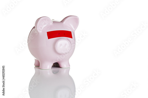 Blindfolded piggy bank