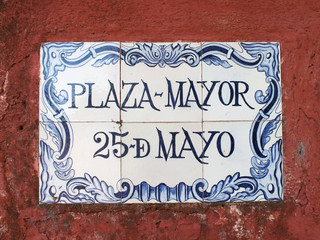 Portuguese street sign