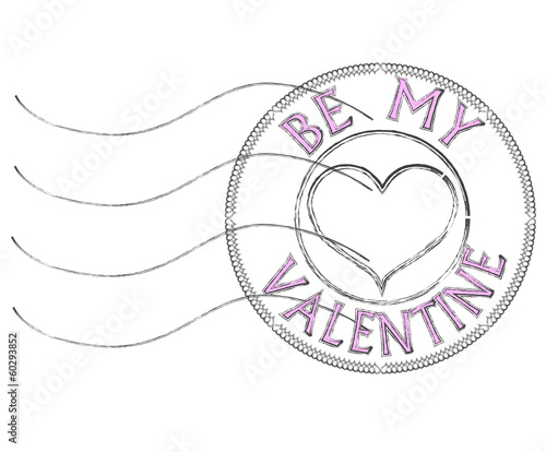 be my Valentine post stamp