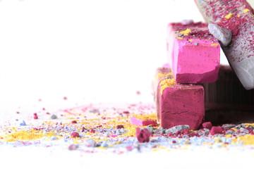 Pastellkreide pink grau 5