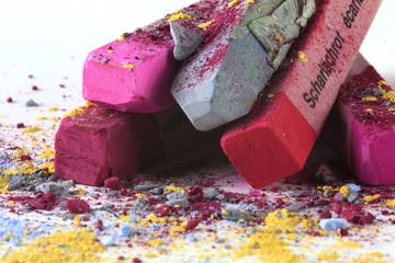 Pastellkreide pink grau 10