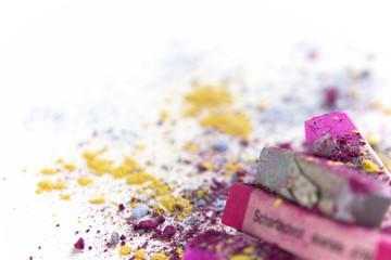 Pastellkreide pink grau 12