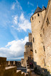 Towers on extrenal walls of  Carcassonne medieval city