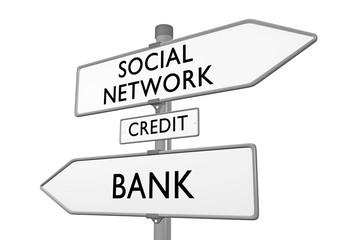 Social Network > Credit < Bank