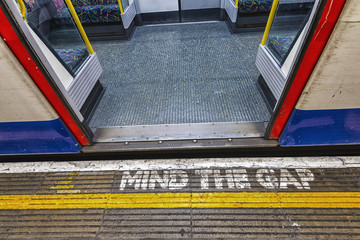London underground sign, mind tha gap