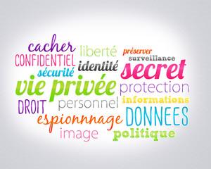 nuage de mots - vie privée