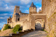 La Porte De Aude at late afternoon in Carcassonne
