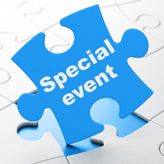 Business concept: Special Event on puzzle background
