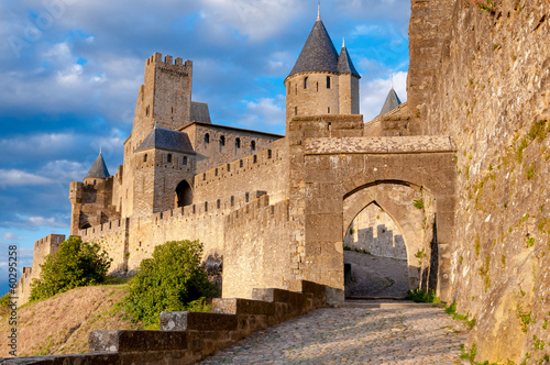 La Porte De Aude at late afternoon in Carcassonne