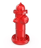 Red fire hydrant isolated on white background