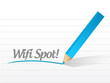 wifi spot illustration design