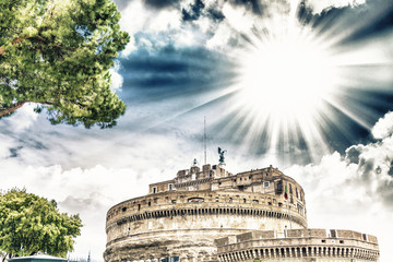 Castel santangelo with beautiful sky.