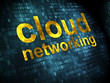 Cloud technology concept: Cloud Networking on digital background