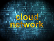 Cloud networking concept: Cloud Network on digital background