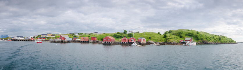Panoramic view of a fishermen village on an island in Northern N