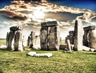 Stonehenge with beautiful sky