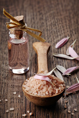 Sea salt and aroma oil