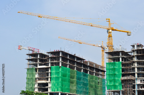 Construction-area with blue-sky various equipment and tools, Tha