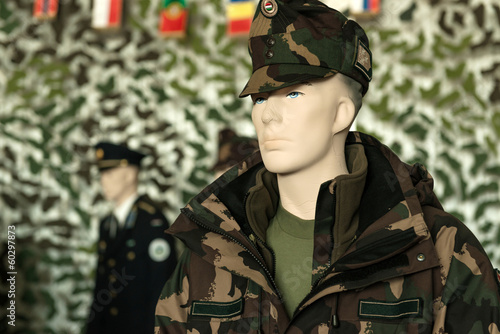 Clean and new military clothing