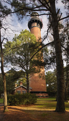 A View of Currituck Beach Lighthouse through the Trees
