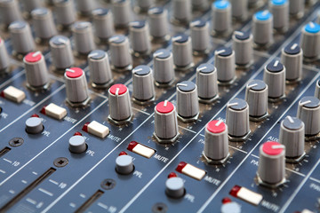 Sound mixer control panel