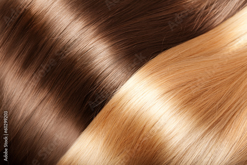 Shiny hair texture