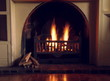 canvas print picture - fireplace