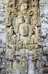 Ancient Maya Statue at Copan, Honduras