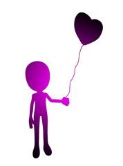 Love Balloon Silhouette