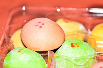 colorful Japanese dessert