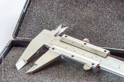 vernier calipers close up with natural lighting
