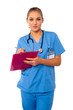Medical professional writing case history