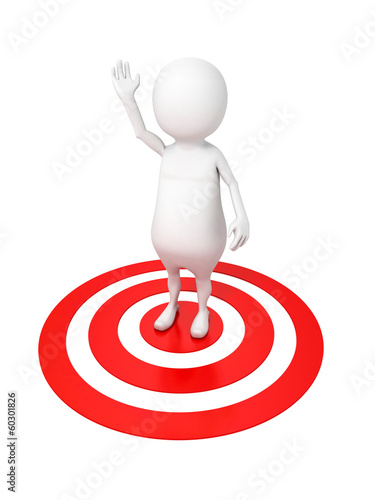 3d man on target with hand up in the air