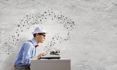 Young man writer