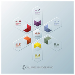 Modern Fusion Hexagon Business Infographic Design Template