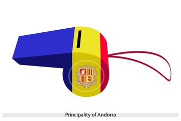 Blue, Yellow and Red Stripe on Andorra Whistle