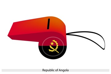 A Red and Black Whistle of Angola