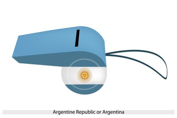 White and Light Blue Whistle of Argentina