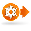 flocon de neige sur symbole web orange