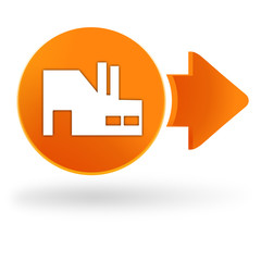 industrie sur symbole web orange