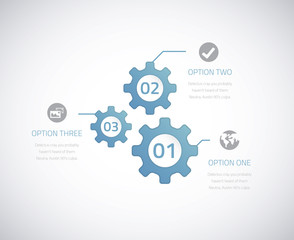 Infographic technology gears with options. Eps10 vector.