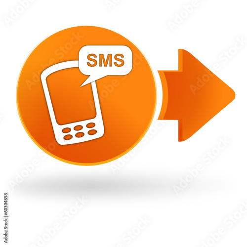 sms sur symbole web orange
